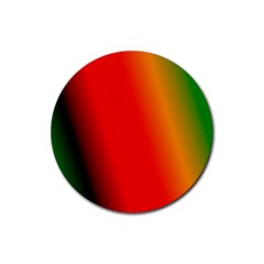 Multi Color Pattern Background Rubber Coaster (Round)