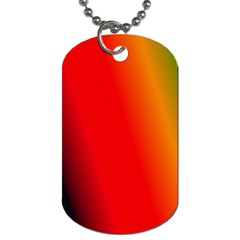 Multi Color Pattern Background Dog Tag (Two Sides)