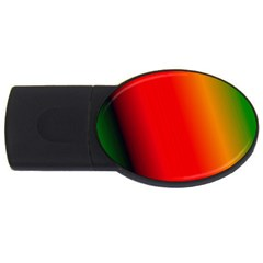 Multi Color Pattern Background Usb Flash Drive Oval (2 Gb)