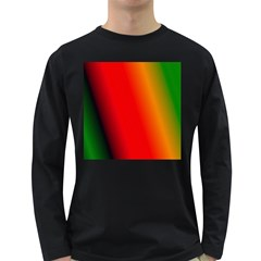Multi Color Pattern Background Long Sleeve Dark T Shirts
