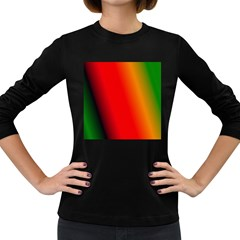 Multi Color Pattern Background Women s Long Sleeve Dark T-Shirts