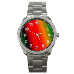 Multi Color Pattern Background Sport Metal Watch