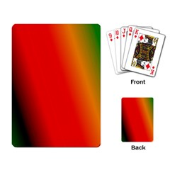 Multi Color Pattern Background Playing Card