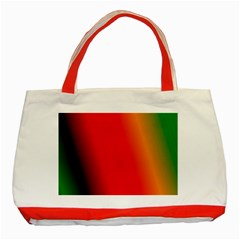 Multi Color Pattern Background Classic Tote Bag (Red)