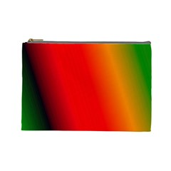 Multi Color Pattern Background Cosmetic Bag (Large)