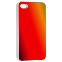 Multi Color Pattern Background Apple iPhone 4/4s Seamless Case (White)