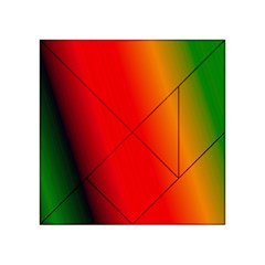 Multi Color Pattern Background Acrylic Tangram Puzzle (4  x 4 )