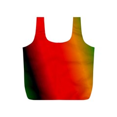 Multi Color Pattern Background Full Print Recycle Bags (S)