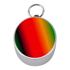 Multi Color Pattern Background Mini Silver Compasses