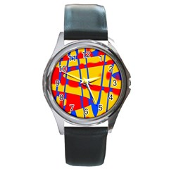 Graphic Design Graphic Design Round Metal Watch