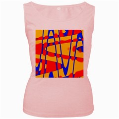 Graphic Design Graphic Design Women s Pink Tank Top