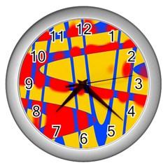 Graphic Design Graphic Design Wall Clocks (Silver)