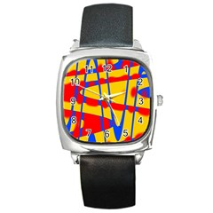 Graphic Design Graphic Design Square Metal Watch