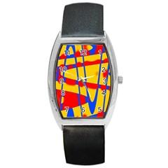 Graphic Design Graphic Design Barrel Style Metal Watch