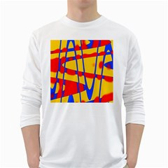 Graphic Design Graphic Design White Long Sleeve T Shirts