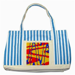 Graphic Design Graphic Design Striped Blue Tote Bag
