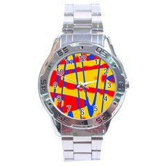 Graphic Design Graphic Design Stainless Steel Analogue Watch