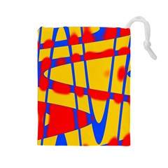 Graphic Design Graphic Design Drawstring Pouches (Large)