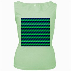 Background Texture Structure Color Women s Green Tank Top