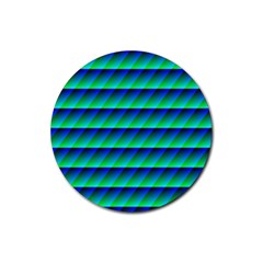 Background Texture Structure Color Rubber Round Coaster (4 pack)