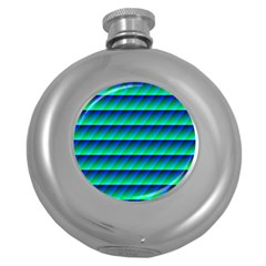 Background Texture Structure Color Round Hip Flask (5 Oz)