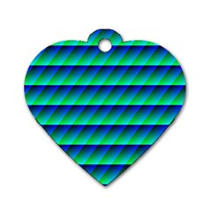Background Texture Structure Color Dog Tag Heart (one Side)