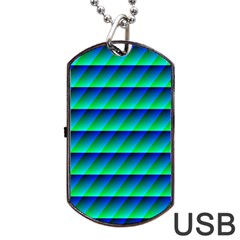 Background Texture Structure Color Dog Tag USB Flash (One Side)