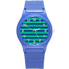 Background Texture Structure Color Round Plastic Sport Watch (S)