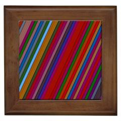 Color Stripes Pattern Framed Tiles