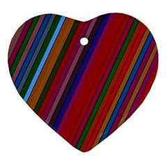Color Stripes Pattern Ornament (Heart)