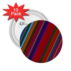 Color Stripes Pattern 2.25  Buttons (10 pack)