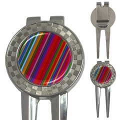 Color Stripes Pattern 3-in-1 Golf Divots