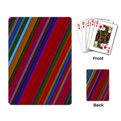 Color Stripes Pattern Playing Card