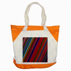 Color Stripes Pattern Accent Tote Bag