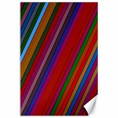 Color Stripes Pattern Canvas 12  X 18