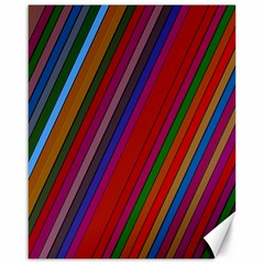 Color Stripes Pattern Canvas 16  x 20
