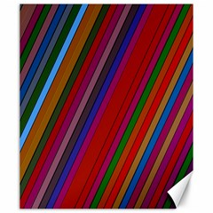 Color Stripes Pattern Canvas 20  x 24