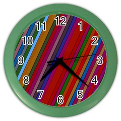 Color Stripes Pattern Color Wall Clocks