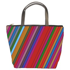 Color Stripes Pattern Bucket Bags