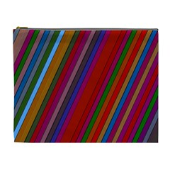 Color Stripes Pattern Cosmetic Bag (xl)