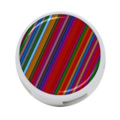 Color Stripes Pattern 4 Port Usb Hub (one Side)