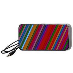 Color Stripes Pattern Portable Speaker (Black)