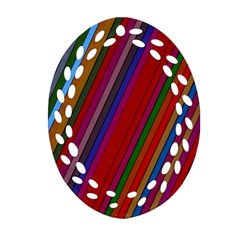Color Stripes Pattern Ornament (Oval Filigree)