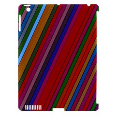 Color Stripes Pattern Apple Ipad 3/4 Hardshell Case (compatible With Smart Cover)