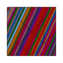Color Stripes Pattern Acrylic Tangram Puzzle (6  x 6 )