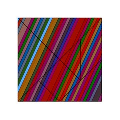 Color Stripes Pattern Acrylic Tangram Puzzle (4  x 4 )