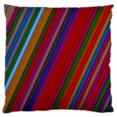 Color Stripes Pattern Large Cushion Case (Two Sides)