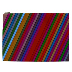 Color Stripes Pattern Cosmetic Bag (XXL)