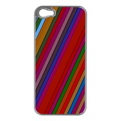 Color Stripes Pattern Apple iPhone 5 Case (Silver)