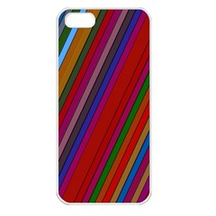 Color Stripes Pattern Apple iPhone 5 Seamless Case (White)